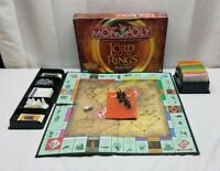 Monopoly LOTR Lord of the Rings Trilogy Edition Board Game Pewter Tokens Figures