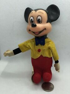 Walt Disney Productions Plush Mickey Mouse in Clothes Toy 1964 Japan