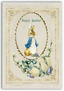 Classic Vintage Peter Rabbit Easter card for children and adults