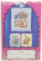 12 Counted Cross Stitch Patterns Forest Friends Quilt Blocks New Vintage 1984