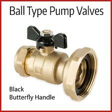 """Válvulas De Bomba De Calefacción Central   22mm X 1 1/2""""   Negro mariposa tipo de la bola"""