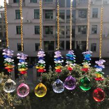 Colorful Crystal Ball Prism Pendant Chandelier DIY house Party Decor SUNCATCHER