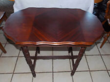 Mahogany Book Match Veneer Inlaid Sofa Table / Entry Table
