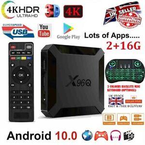 2020 X96Q Android 10.0 2+16G 4K TV BOX H313 Quad Core WIFI 3D Media Streamer NEW