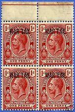 TURKS & CAICOS, KING GEORGE V, 1918 WAR TAX, OVERPRINT, MNH, BLOCK OF 4 (C)