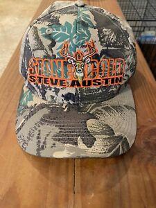 Vintage Stone Cold Camouflage Hat Steve Austin 3:16 WWF Wrestling Snapback