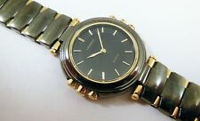 Lassale by Seiko Two-Tone Black & Gold Metal 1F20-1D90 Sample Watch NON-WORKING