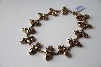 NWT Jcrew Radiant Gold Brass Crystal Statement Necklace