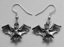 Earrings #270 Pewter Bat (25mm x 18mm)
