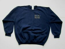 Vintage Eastern Oregon University Polo Club Horse Blue Crew Sweatshirt Men XL