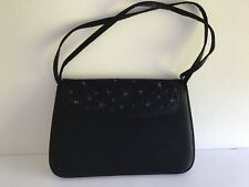 Ann Taylor Black Satin Evening Bag/Clutch Small Strap EUC