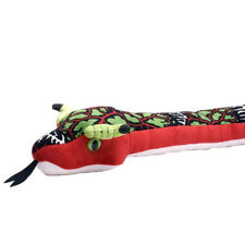 "SNAKE DRAGONBONE soft plush toy green/red 54""/137cm Wild Republic NEW"