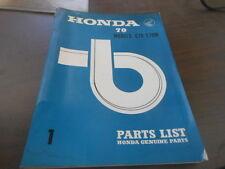 Honda C70 C70M Parts List Manual