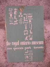 The Royal Ontario Museum a Handbook 100 Queen's Park Toronto. vintage old book