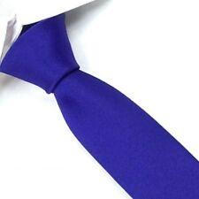 Slim Solid Mens Silk Tie Groom Wedding SKINNY Royal Blue Necktie Sk07