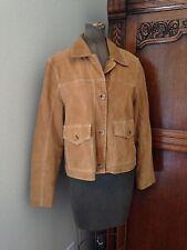 OUTBROOK Suede Leather Jacket Tan-Sandstone Color Women's Size Medium