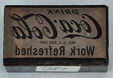 Vintage printing plate, COCA-COLA in very good condition. (BI#MK/170713)