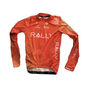 New 2020 Men's Pactimo Rally Pro Cycling Aero LS Jersey, Orange, Size Small