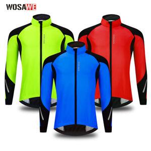 Winter Cycling Jackets Thermal Fleece Jerseys Windproof Long Sleeve Bike Coat