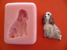 SPANIEL DOG SILICONE MOULD FOR CAKE TOPPERS, CHOCOLATE, CLAY ETC