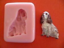 Épagneul chien moule en silicone pour gâteau toppers, chocolat, argile, etc.
