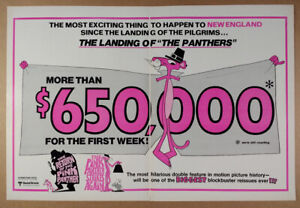 1977 The Pink Panther Double Feature vintage movie industry trade print Ad