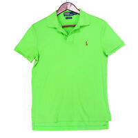 Polo Ralph Lauren Men's Green Pima Soft Touch Color Pony Polo Shirt - Size Small