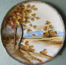 Old Vintage Handpainted Plate Made in Japan Signed Y.Tahagi