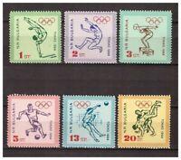 11134) BULGARIA 1964  6v MNH** Olympic Games Tokyo