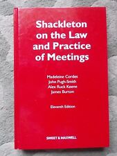 Shackleton on the Law and Practice of Meetings by John Pugh-Smith, Madeleine Cor