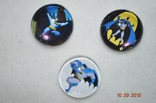Snap metal Button 3ct lot BATMAN asst'd charms for Leather Snap bracelet 18-19MM