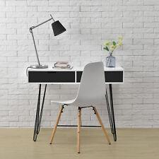 [en.casa]® Schreibtisch weiß/grau Konsole Sekretär Sideboard Büro Beistell Tisch