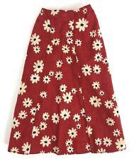 Vintage Barbie Free Moving Mod Skirt Red Floral #7270