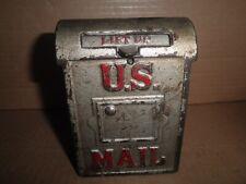 "New ListingGreat old original cast iron ""U.S. Mail"" Mailbox still bank c.1904 - 1910"