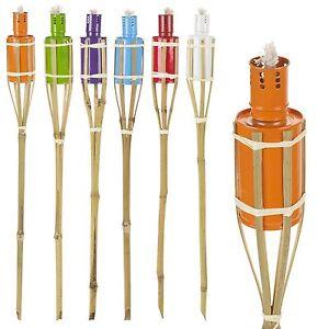 6x 2ft Bamboo Torch Lantern Garden Oil Paraffin Outdoor Garden Lighting Burner