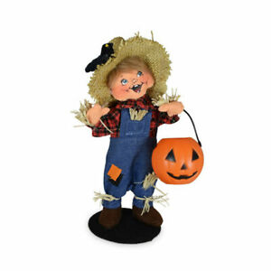 Annalee Dolls 2021 Halloween 7in Trick or Treat Scarecrow Kid Plush New with Tag