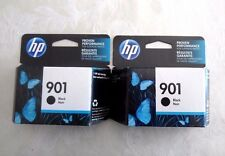 "Two (2) HP 901 Black Ink Cartridges (CC653AN) ""NEW IN SEALED BOX"" EXP.JUNE, 2019"