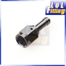"""6 AN AN 6 AN -6 Straight Female to 5/16"""" (8mm) Barb Hose Adapter Fitting Black"""