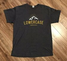 Lower Case Brewing Craft Beer T Shirt Sz Large
