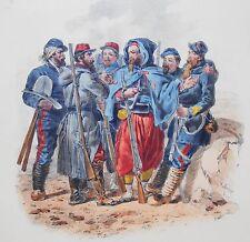 Lithographie originale -Types Mlilitaires - Soldats - H.Lalaisse - Napoléon