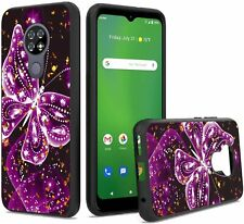 Unc Pro Cell Phone Case for Cricket Ovation/At&T Radiant Max, Luxury Butterfly G