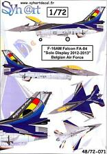 Syhart Decals 1/72 F-16AM FALCON SOLO DISPLAY 2012-2013 Belgian Air Force