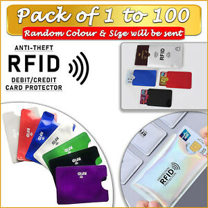 RFID Card Sleeve Debit Credit Card Protector Anti-Theft 1-100 PACK WHOLESALE 🛡️