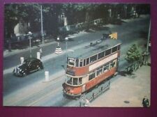 POSTCARD LTM-101 LONDON TRANSPORT E/3 TYPE TRAMCAR ON VICTORIA EMBANKMENT