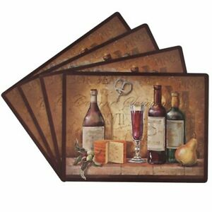 Benson Mills Bordeaux 100-Percent Cork Placemat Set of 4