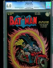 Batman 25 CGC 6.0 OW/W pages Classic Cover!! Joker/Penguin team-up 1944 RARE!!