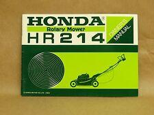 Vintage NOS New Honda HR214 K0 Rotary Mower Owners Manual 00X31-VA3-0400