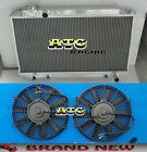 For Toyota Cressida MX83 3.0 AT/MT 1989 - 1993 All Aluminum Radiator + Fans
