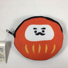 Japanese Mini Coin Purse Bag Red Daruma Lucky Charm for Good Fortune Success