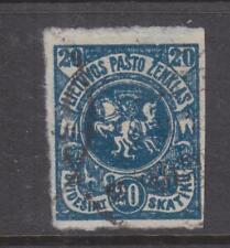 LITHUANIA, 1920 Kaunus, no watermark, 20s. Blue, imperf., used.